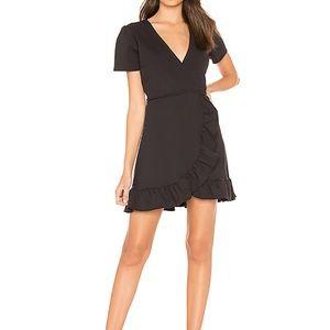 Donna Mizani ruffle wrap dress. Worn once